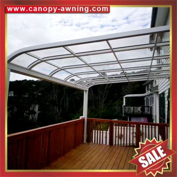 aluminum aluminium metal pc outdoor gazebo patio balcony canopy canopies cover awning shelter polycarbonate China