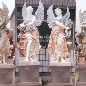 Hand Carve Four Season Lady Goddess Garden Statue Sculpture