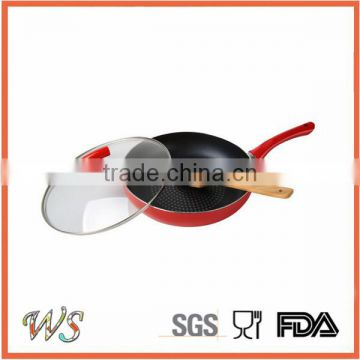 Hot Sale Aluminum Non Stick Coating Pressed/Forged Cookware Set Egg Pizza Frying Pan