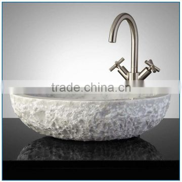 Indoor used Handmade Carving Natural Marble Bowl Sink