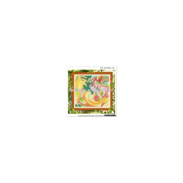 quenna personality cross-stitch finished product hand-knitted cross stitch,