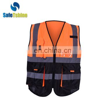 New design reflective fluorescent high visibility traffic safety vest