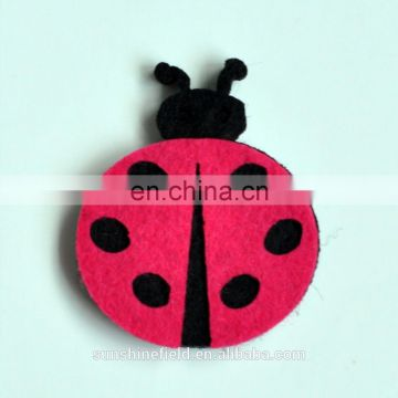 2016 Trendy Ladybug Flower DIY Carfting Felt Back Without Hair Clips
