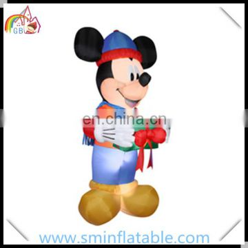 Commercial christmas inflatable minnie mouse, santa inflatable cartoon minnie for outdoor event christmas decor