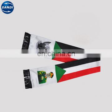 Customized cheap Arabic satin printed scarf