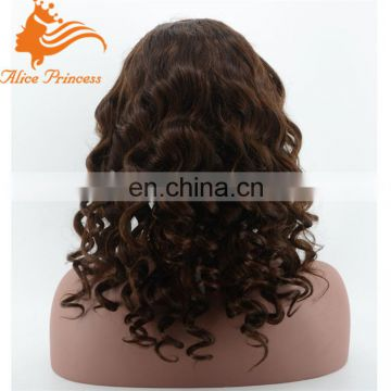 chocolate hair wig body wave full brazilian lace wig cheap lace front wig with baby hair