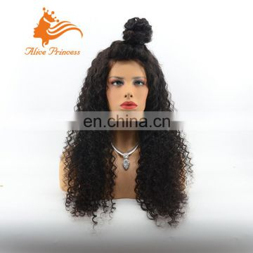 Wholesale 7A Virgin Brazilian Full Lace Hair Wig Kinky Curly Lace Wig.