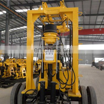 foldable trailer mounted water well drilling rig/diesel deep well drilling machine for sale
