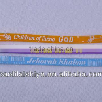 New arrival!!! Smart lovely popular small band students snap silicone wrist pen for writting