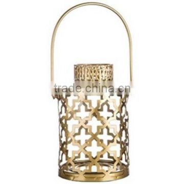 gold plated antique shiny lantern