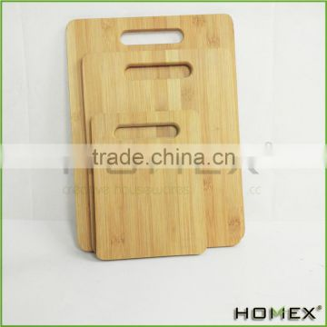 Bamboo Cutting Board Set of 3 with Carrying Handle /Homex_BSCI