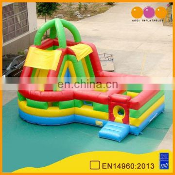 AOQI commercial inflatable combo bouncy mini inflatable combo slide children indoor playground mini slides for sale