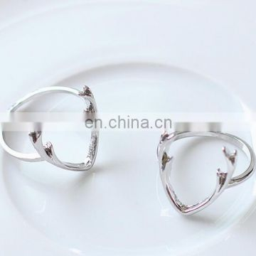 Hot selling alloy antler couple rings China suppliers