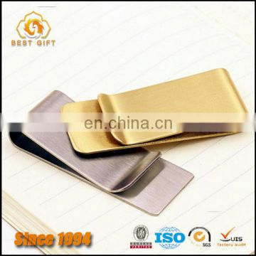 Custom Personalized High Quality Brass Metal Sample Style Money Clip