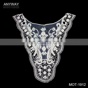 Fashion african lace neckline;elegant lace collar;fancy lace neckline for party dress