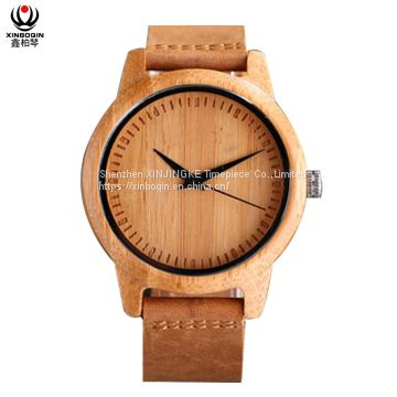 XINBOQIN Supplier Custom LOGO Men Brands High Quality Quartz Wood Watch