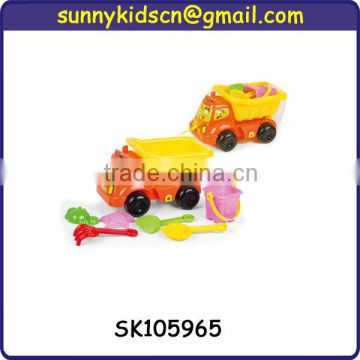 colorful plastic sand beach toy truck with EN71