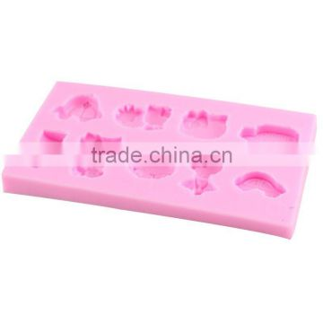 High quality silicone mold 3D chocolate fondant cake baking