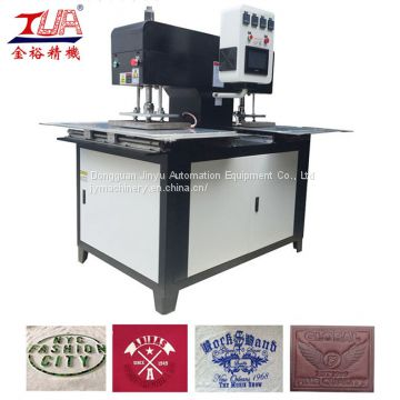 Automatic press silicone emboss on fabric embosser machine