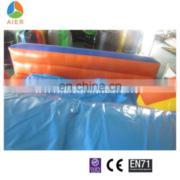 large Jump Orange jungle inflatable obstacle course for sale