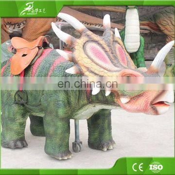 KAWAH 3.5 Meters Long Dinosaur Rides Robotic Triceratops Ride