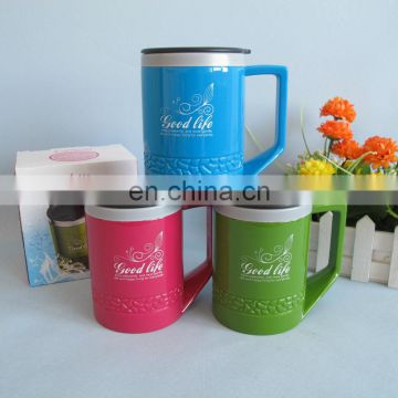 2014 new product 400ml plastic vacuum cup