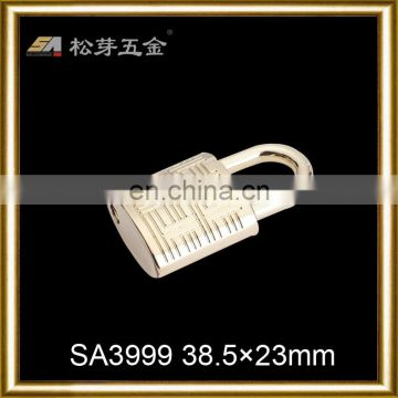 Shinly gold metal alloy clasps for bags
