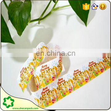 SHECAN dogs,cows, deer different pattern printed grosgrain ribbons