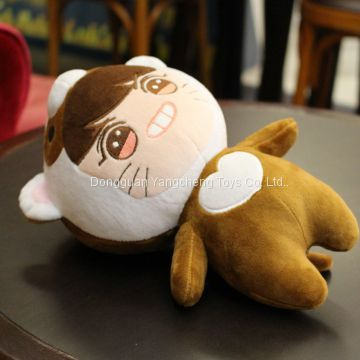 Manufacturers come to draw a professional custom stuffed doll enterprise mascot doll big face cat expression