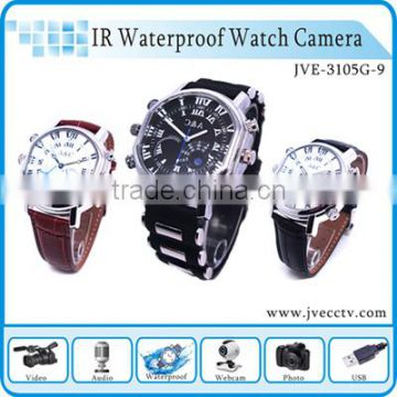 Fashionable 4 in 1 hidden wrist camera 32gb, 720p full hd hidden watch camera, mini camcorder in watch Max 32gb JVE-3105G-9