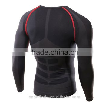 Men Running Cycling Tight Sportswear Long Sleeve Breathable compression Quick Drying Base layer basketball jersey