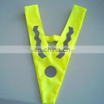 V-shape Safety Vest, Made of Reflective Material for Children, Various Sizes Available