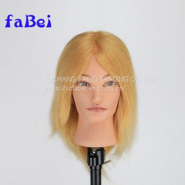 Factory wholesale human hair male training mannequin head with human hair