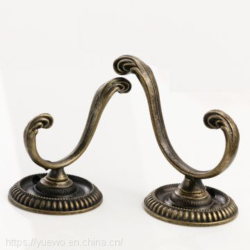 Home decoration copper hook single hook door after cap hook antique Chinese wind carved flowers made in China