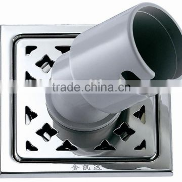 Stainless steel square floor drain 105*105 wahing machine connected pipe B0812-2