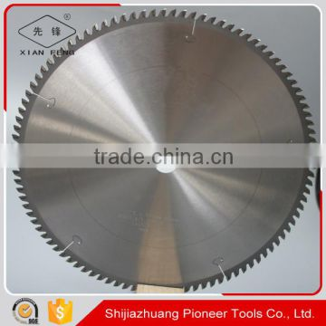 255mm high performance acrylic cutting tungsten carbide steel circular saw blade
