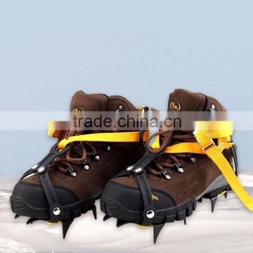 10 teeth mountain climbing adjustable nonslip snow ice crampons for shoes
