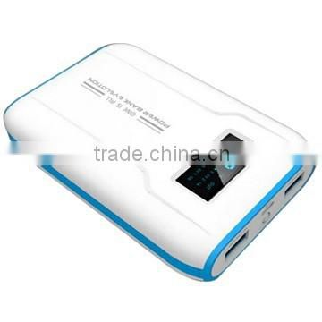 Classic LCD screen Power bank 10400mAh external battery charger for mobile phone/tablet
