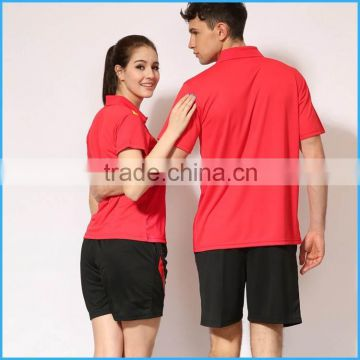Cheap custom breathable couples badminton set or badminton shirt set or uniform