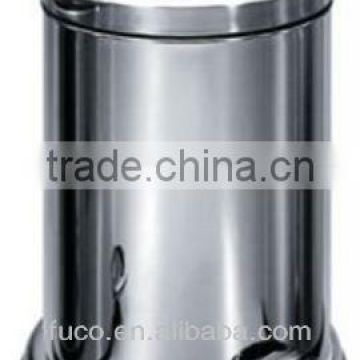 TRASH CAN WITH PEDAL 40L STAINLESS STEEL Bin WITH plastic base