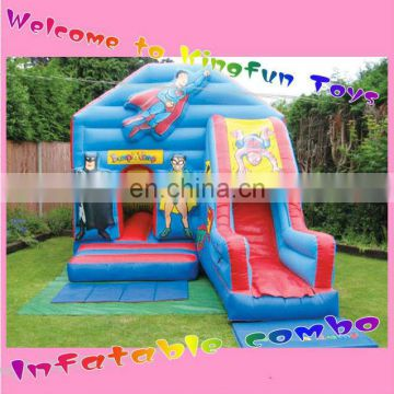 Superman inflatable bouncy house with slide