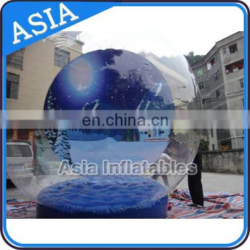 Hot sale trasparent inflatable dome tent / human snow globe