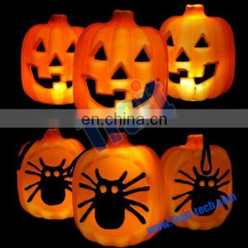 Funny Spider Hollow Out Pumpkin LED Night Light for Halloween Decoration