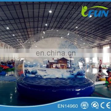 christmas inflatable bubble tent for outdoor decoration/christmas inflatable bubble tent/ big inflatable bubble tent