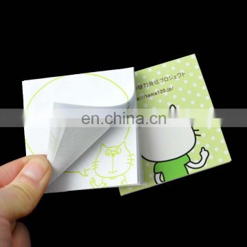 printed square sticky note pad