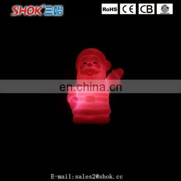 2016 hot selling christmas decorations sitting led light santa claus