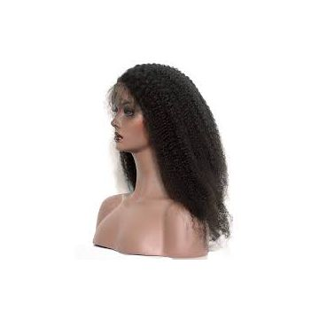 High Quality Indian Brazilian Tangle Free Front Lace Human Hair Wigs 16 Inches Pre-bonded