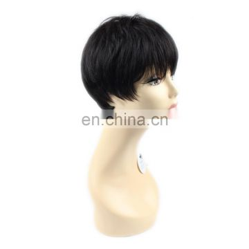 high quality hot selling 100% human hair popular ladies short hair wig