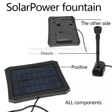 Solar Water Fountain Pump with LED Light