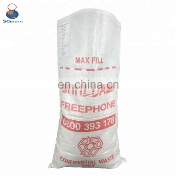 Recyclable plastic used pp woven wheat flour packing bags